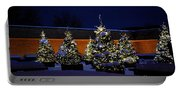 Lighted Trees With Snow Portable Battery Charger