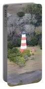Lighthouse Aerial Near Jekyll Island Portable Battery Charger