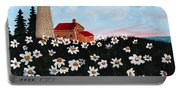 Lighthouse And Daisies Portable Battery Charger