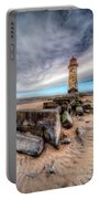 Lighthouse At Talacre  Portable Battery Charger by Adrian Evans