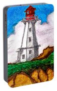 Lighthouse Nova Scotia Portable Battery Charger