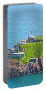 Lighthouse On Point In Signal Hill National Historic Site In Saint John's-nl Portable Battery Charger