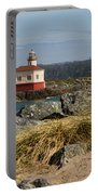 Lighthouse Over The Dunes Portable Battery Charger