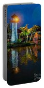 Lighthouse Reflection Portable Battery Charger by Adrian Evans
