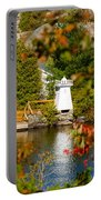 Lighthouse Through The Leaves Portable Battery Charger