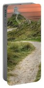 Lighthouse Trail Portable Battery Charger by Adrian Evans