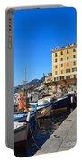Liguria - Harbor In Camogli Portable Battery Charger