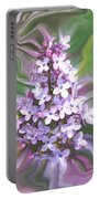 Lilac Abstract Portable Battery Charger
