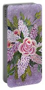 Lilac And Rose Bouquet Portable Battery Charger