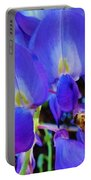 Lilac Blossom And Honey Bee Portable Battery Charger