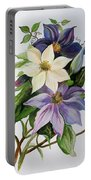 Lilac Clematis Portable Battery Charger