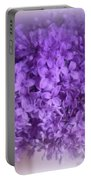 Lilac Fantasy Portable Battery Charger by Kay Novy