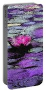 Lilac Lily Pond Portable Battery Charger