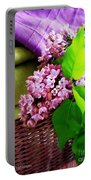 Lilac Still Life Portable Battery Charger