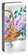 Lilac Vintage Impressionism Painting Portable Battery Charger