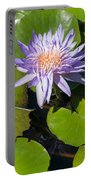 Lilac Water Lily Portable Battery Charger