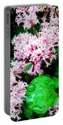 Lilacs After The Rain Portable Battery Charger