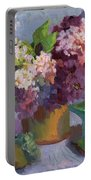 Lilacs And Pears Portable Battery Charger