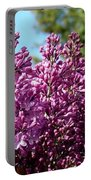 Lilacs- Horizontal Format Portable Battery Charger