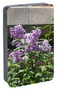 Lilacs Up Against The Wall Portable Battery Charger