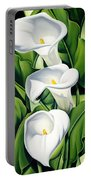 Lilies Portable Battery Charger by Catherine Abel