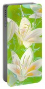 Lilies Greeting Card Portable Battery Charger