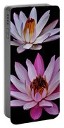 Lilies In Black Portable Battery Charger