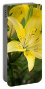 Lilies In The Sun Portable Battery Charger