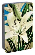 Lilies In White Portable Battery Charger