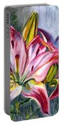 Lilies Twin Portable Battery Charger