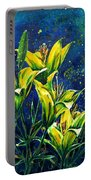 Lilies Portable Battery Charger by Zaira Dzhaubaeva