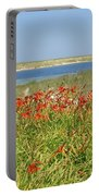 Lillies By The Lake Portable Battery Charger