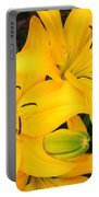 Lillies In Yellow Portable Battery Charger