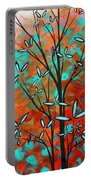 Lilly Pulitzer Inspired Abstract Art Colorful Original Painting Spring Blossoms By Madart Portable Battery Charger