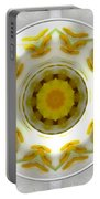 Lily And Daffodil Kaleidoscope Under Glass Portable Battery Charger