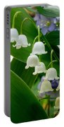 Lily Of The Valley Green Portable Battery Charger