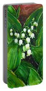 Lily Of The Valley Portable Battery Charger by Zaira Dzhaubaeva