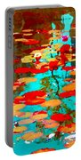 Lily Pads And Koi Colorful Water Garden In Bloom Waterlilies At The Lake Quebec Art Carole Spandau  Portable Battery Charger