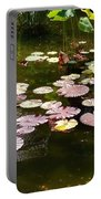 Lily Pads In The Fountain Portable Battery Charger
