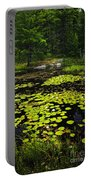 Lily Pads On Lake Portable Battery Charger