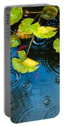 Lily Pads Ripples And Gold Fish Portable Battery Charger
