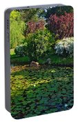 Lily Pond And Colorful Gardens Portable Battery Charger
