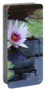 Lily Purple And White Portable Battery Charger