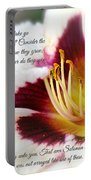 Lily With Scripture Portable Battery Charger