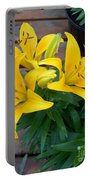 Lily Yellow Flower Portable Battery Charger