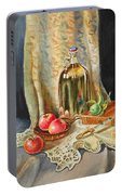 Lime And Apples Still Life Portable Battery Charger