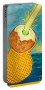 Lime Coconut Pineapple Guitar Portable Battery Charger