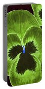 Lime Green Pansies Portable Battery Charger