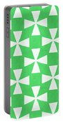 Lime Twirl Portable Battery Charger