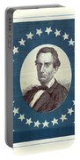 Lincoln 1860 Presidential Campaign Banner - Bust Portrait Portable Battery Charger